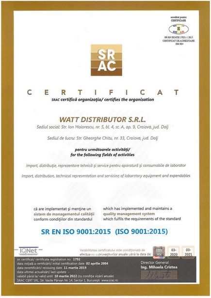 SR EN ISO 9001:2015