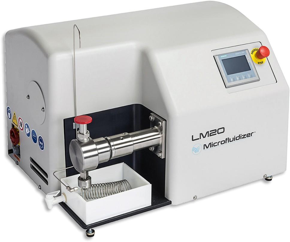 Omogenizator electrohidraulic cu control digital pentru procesare volume mici