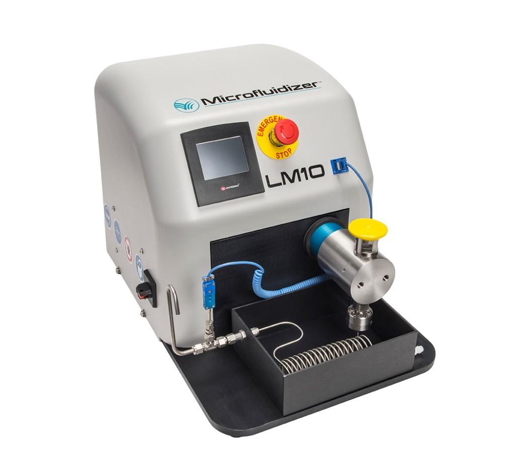 Omogenizator pneumatic cu control digital pentru procesare volume mici