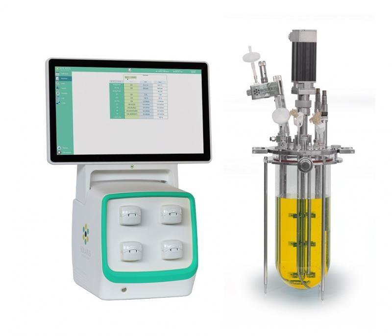 Bioreactor autoclavabil culturi aerobe si anaerobe 4L