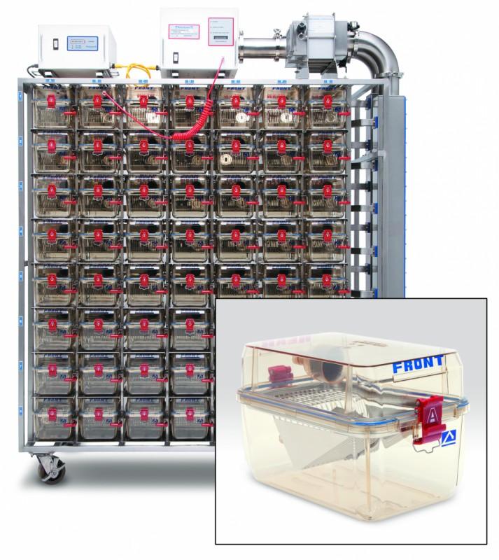 Rack bioizolare ventilat depozitare custi