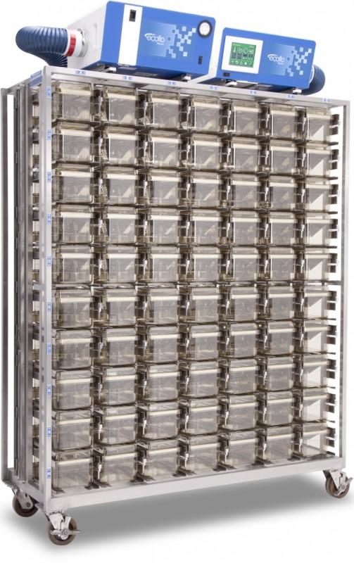 Rack mobil ventilat depozitare custi