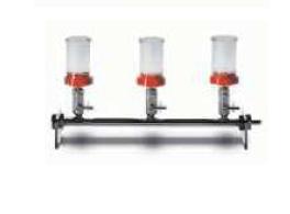 Sistem cu 3 palnii din plastic pentru metoda filtrarii prin membrana