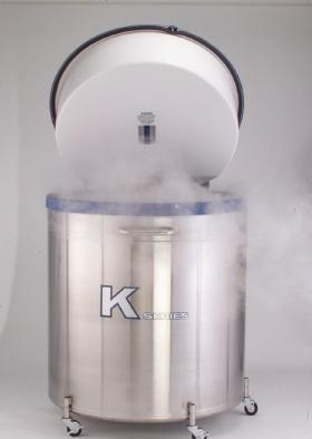 Tanc 590 Litri stocare probe biologice in azot lichid la -196°C 38K