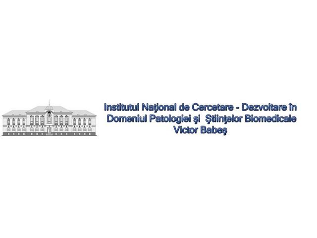 INSTITUTUL NATIONAL DE CERCETARE  DEZVOLTARE IN DOMENIUL PATOLOGIEI SI STIINTELOR BIOMEDICALE VICTOR BABES BUCURESTI